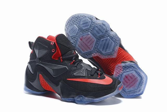 Nike Lebron James 13 Shoes Black Red